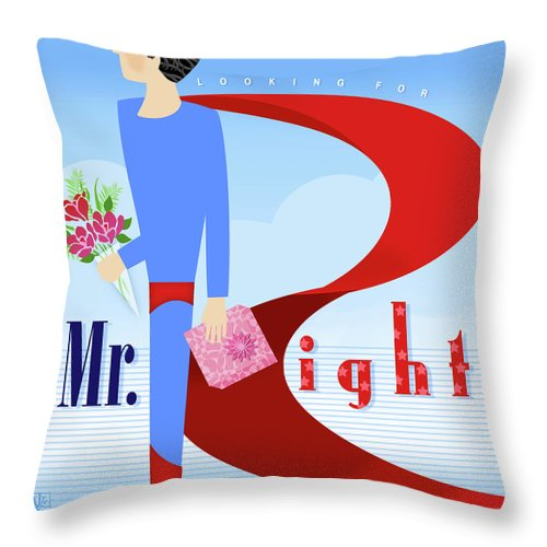 Letter Throw Pillow featuring the digital art The Letter R by Valerie Drake Lesiak