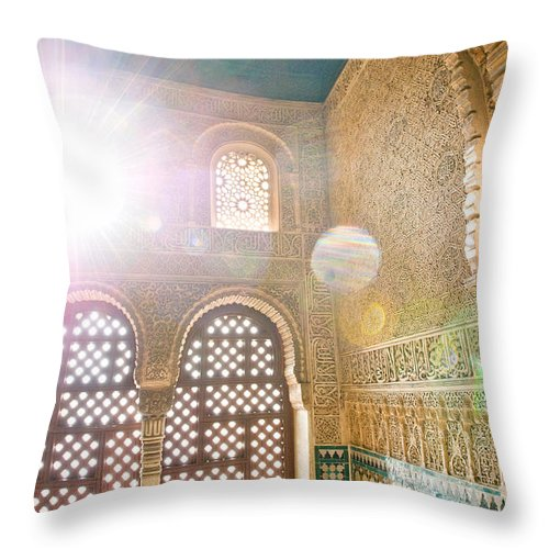 Alhambra Throw Pillow featuring the photograph The Light by Aneta Sarna-Blachani