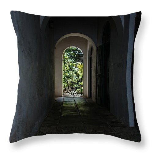 End Of The Tunnel Throw Pillow featuring the photograph The Light At The End Of The Tunnel by Georgia Mizuleva