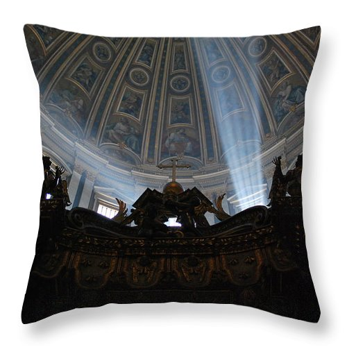 Sunlight Throw Pillow featuring the photograph The Light by Richard Booth