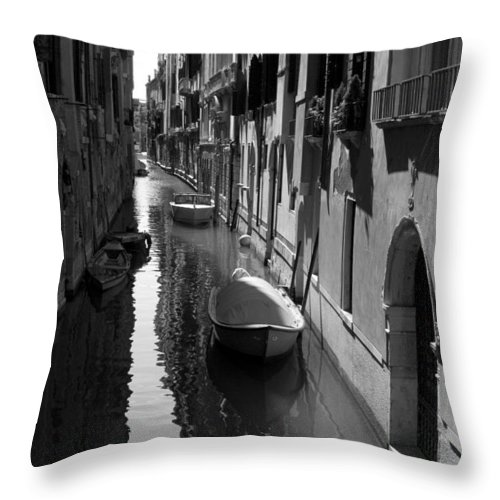 Venice Throw Pillow featuring the photograph The Light - Venice by Lisa Parrish