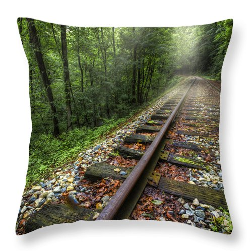 Andrews Throw Pillow featuring the photograph The Line by Debra and Dave Vanderlaan