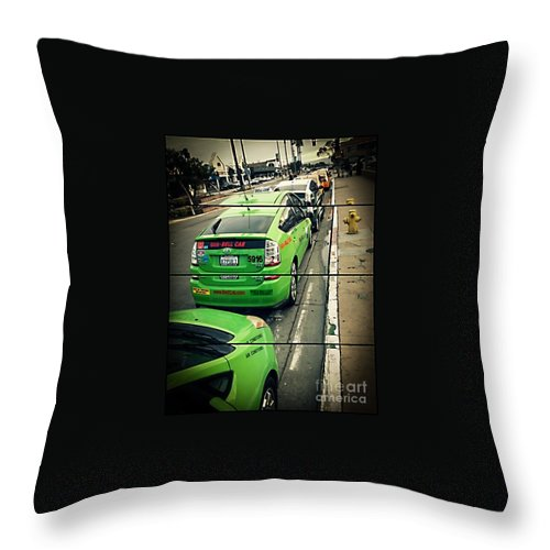 Urban Throw Pillow featuring the photograph The Lineup Business by Fei A