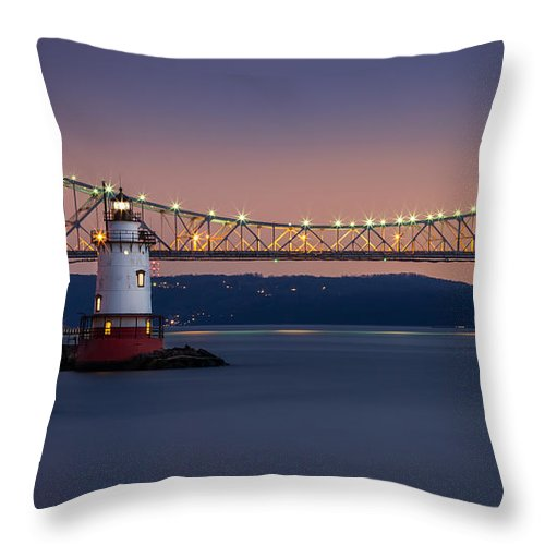 16:9 Throw Pillow featuring the photograph The Little White Lighthouse by Mihai Andritoiu
