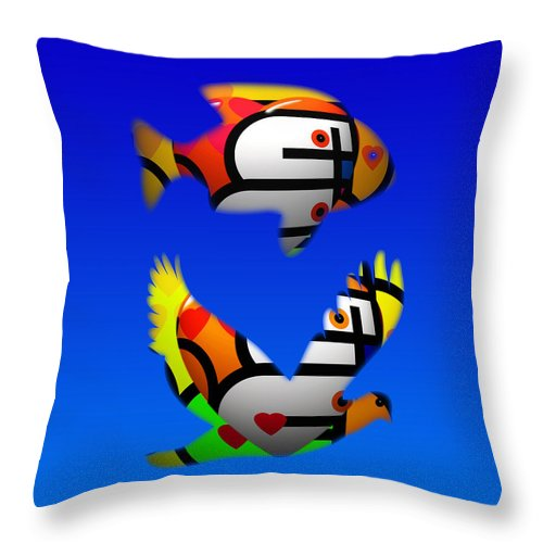 Love Throw Pillow featuring the painting The Lonely Sea Or The Sky by Charles Stuart