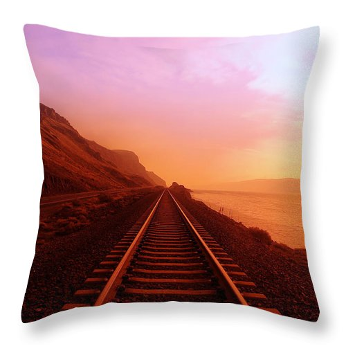 Columbia River Throw Pillow featuring the photograph The Long Walk To No Where by Jeff Swan