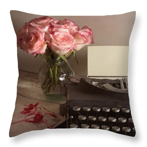 Love Letter Throw Pillow featuring the photograph The Love Letter by Ann Garrett