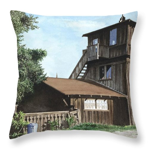 Capitola Throw Pillow featuring the painting The Lund House by James Robertson