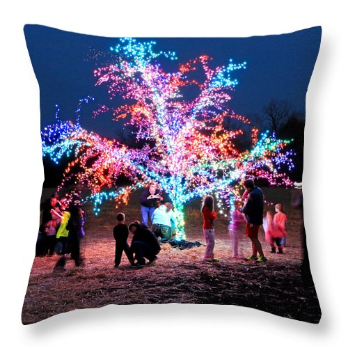 Tree Throw Pillow featuring the photograph The Magic Tree by Christopher McKenzie