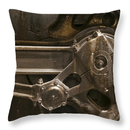 Historical Throw Pillow featuring the photograph The Main Drive Rod by Paul W Faust - Impressions of Light