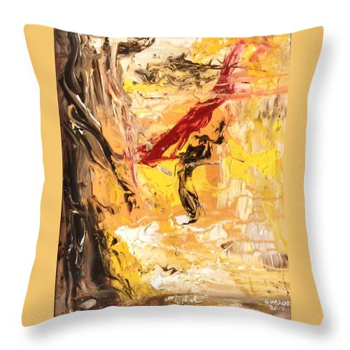 Impressionist Throw Pillow featuring the painting The Matador by Patricia Wood