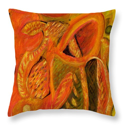 Abstract Art Throw Pillow featuring the painting The Mirage by Stephen Lucas