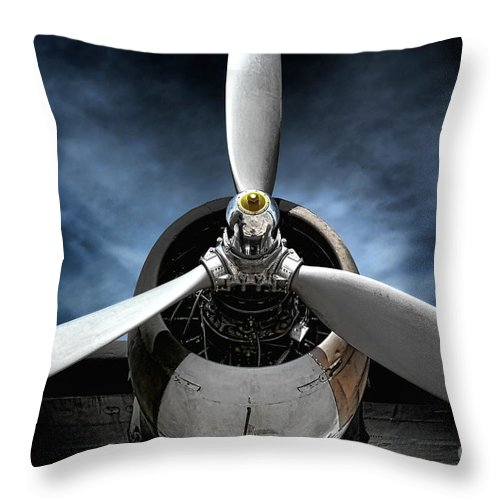 Plane Throw Pillow featuring the photograph The Mission by Olivier Le Queinec