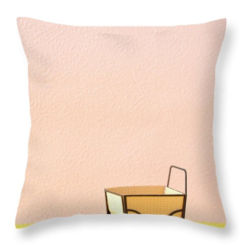 Baby Carriage Throw Pillow featuring the photograph The Model Of The Baby Carriage Made Of by Yagi Studio