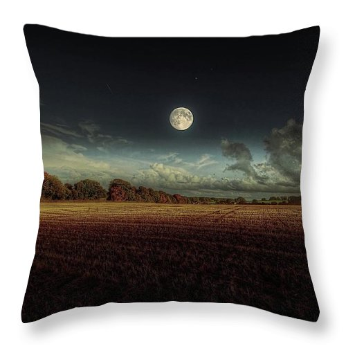 Tranquility Throw Pillow featuring the photograph The Moon by A Goncalves