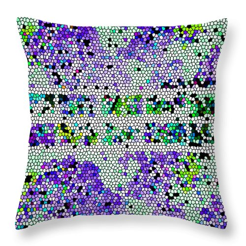 Abstract Art Throw Pillow featuring the photograph The Moon Abstract by Tina M Wenger