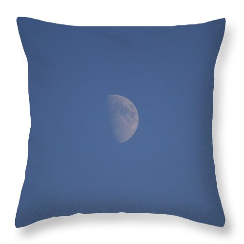 Moon Throw Pillow featuring the photograph The Moon by Four Hands Art
