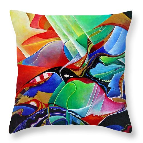 Morning Throw Pillow featuring the painting the morning-Nausikaa by Wolfgang Schweizer