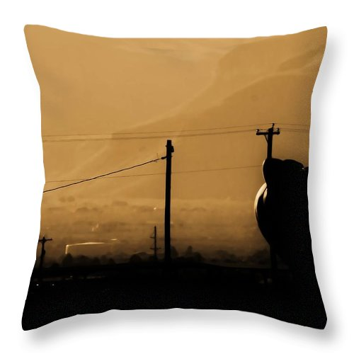 Sepia Throw Pillow featuring the photograph The Morning When Life Made Sense by Jessica Shelton