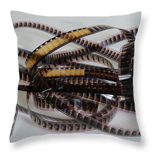 Paul Ward Throw Pillow featuring the photograph The Movie Buff by Paul Ward
