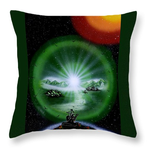 Throw Pillow featuring the painting The Music Of The Universe by Ronny Or Haklay