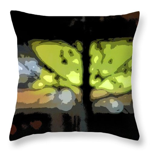 Abstract Throw Pillow featuring the digital art The Neighborhood by Lena Wilhite