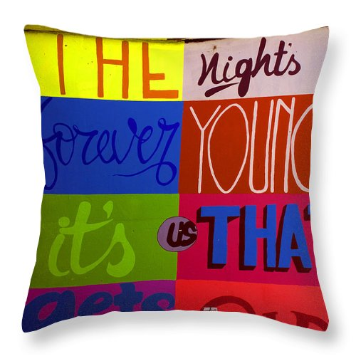 Sydney Australia Photographs Throw Pillow featuring the photograph The Night by Ben Bassey