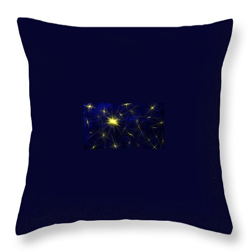 Stars Throw Pillow featuring the painting The North Star by Bruce Nutting