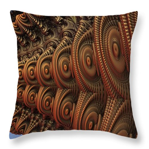 Fractal Throw Pillow featuring the digital art The Odd Beauty Of Fractals by Lyle Hatch