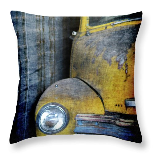 Truck Throw Pillow featuring the digital art The Ol Chevy by Ernie Echols