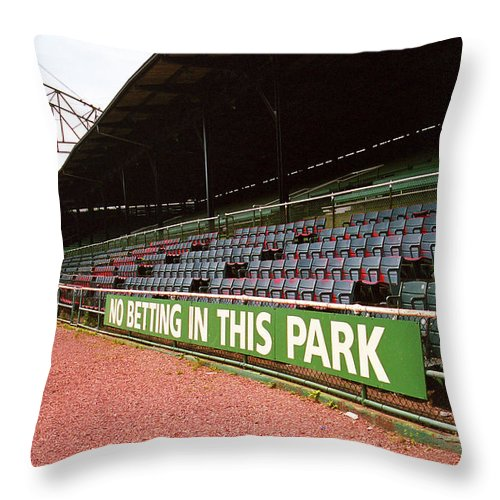 Al Throw Pillow featuring the photograph The Old Ballpark 3 by Frank Romeo