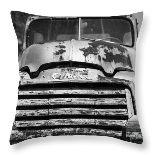 Landscapes Throw Pillow featuring the photograph The Old Gmc Truck by Amber Kresge