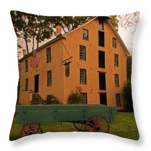 Mill Throw Pillow featuring the photograph The Old Grist Mill by Michael Porchik