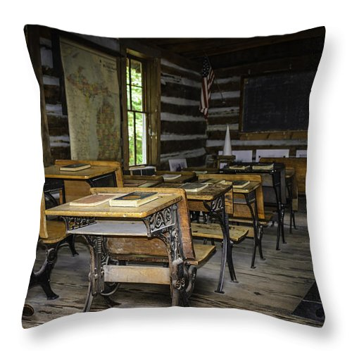 Usa Throw Pillow featuring the photograph The Old Mikado Bailey School House by LeeAnn McLaneGoetz McLaneGoetzStudioLLCcom