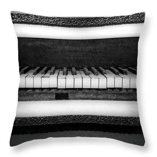 The Old Piano Throw Pillow featuring the photograph The Old Piano by Dan Sproul