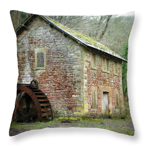 Watermill Throw Pillow featuring the photograph The Old Watermill by David Birchall