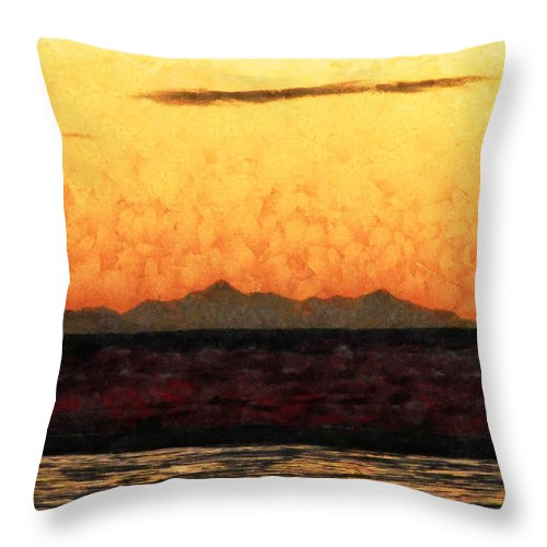 Abstract Throw Pillow featuring the photograph The Orange Dawn by Steve Taylor