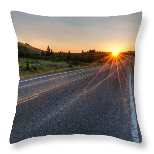 Beautiful Throw Pillow featuring the photograph The Other Direction by James Wheeler