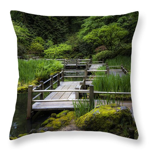 Dock Throw Pillow featuring the photograph The Other Side by Calazone's Flics