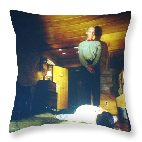Laura Palmer Throw Pillow featuring the painting The Owls Are Not What They Seem by Luis Ludzska
