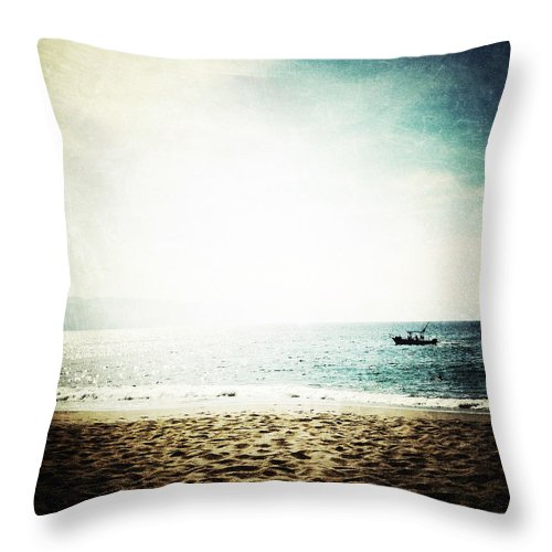 Beach Throw Pillow featuring the photograph The Pacific by Natasha Marco