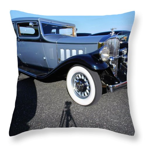 The Packard Throw Pillow featuring the photograph The Packard by Warren Thompson