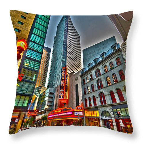 Boston Throw Pillow featuring the photograph The Paramount Center And Opera House In Boston by Toby McGuire