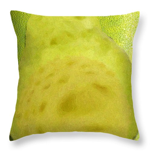 Pear Throw Pillow featuring the digital art The Pear by Pharris Art