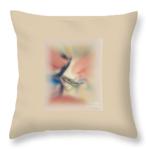 Details Throw Pillow featuring the photograph The Perfume Of Life by Marija Djedovic