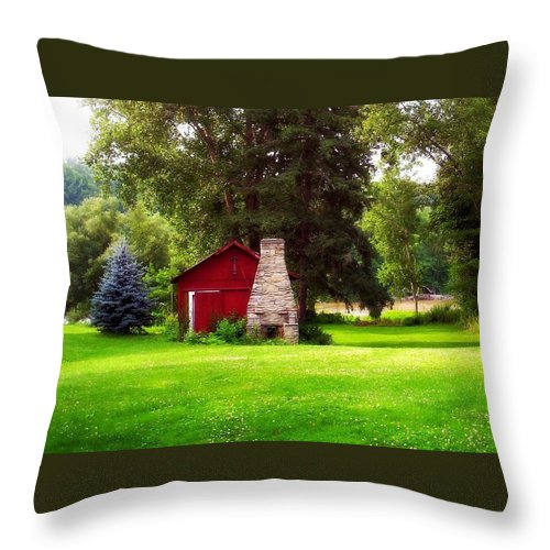 Landscape Throw Pillow featuring the photograph The Piggery by Vicki Dreher