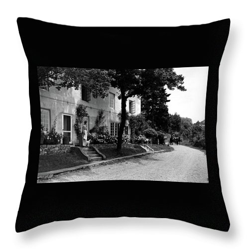 The Platt's House In New Jersey Throw Pillow