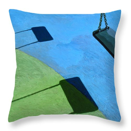 Playground Throw Pillow featuring the painting The Playground by Dominic Piperata