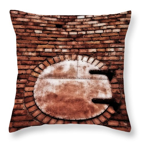 Brick Throw Pillow featuring the photograph The Portal by Mark Alder