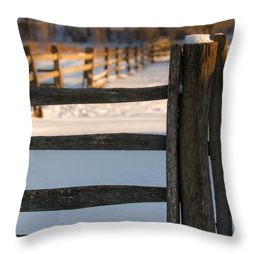 Fence Throw Pillow featuring the photograph The Post by Scott Hafer